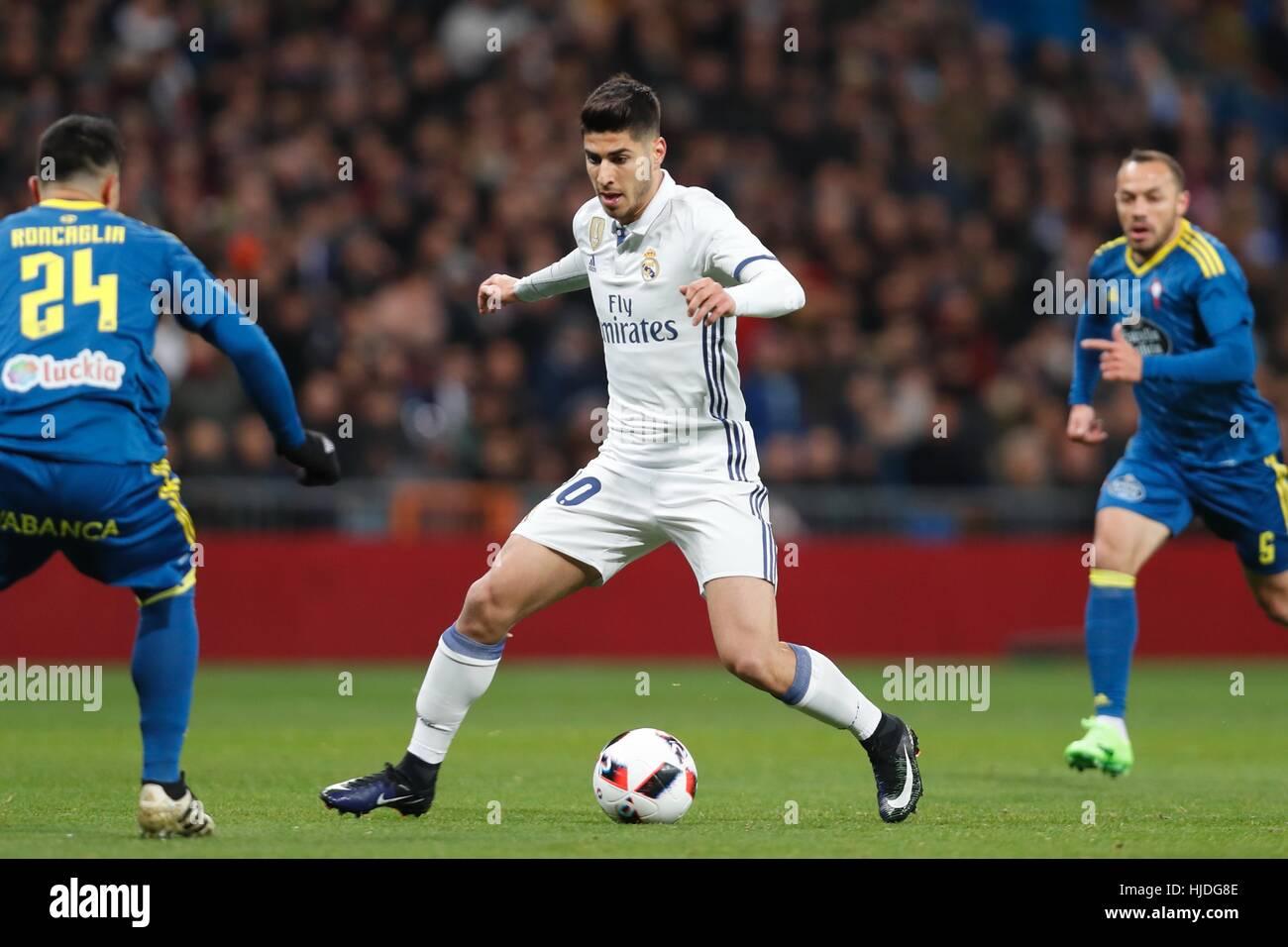 Madrid, Spain. 18th Jan, 2017. Marco Asensio (Real) Football/Soccer ...