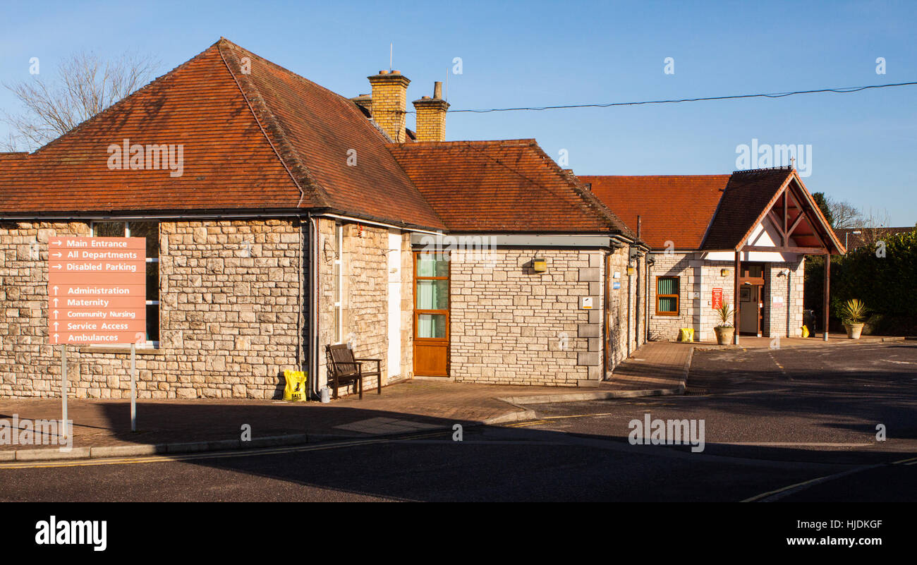Shepton Mallet Community hospital - Stock Image