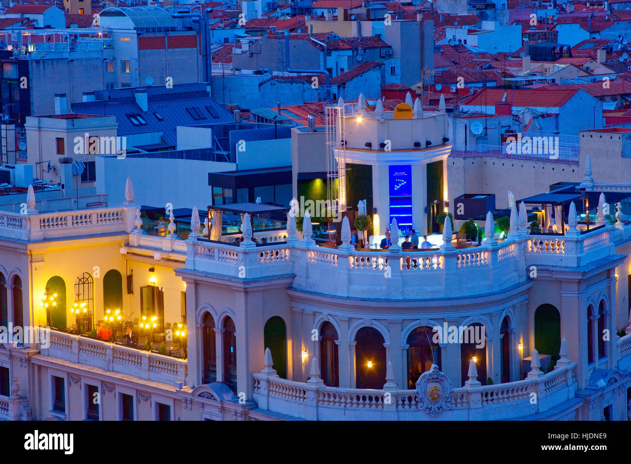 Nightlife in Madrid - Stock Image