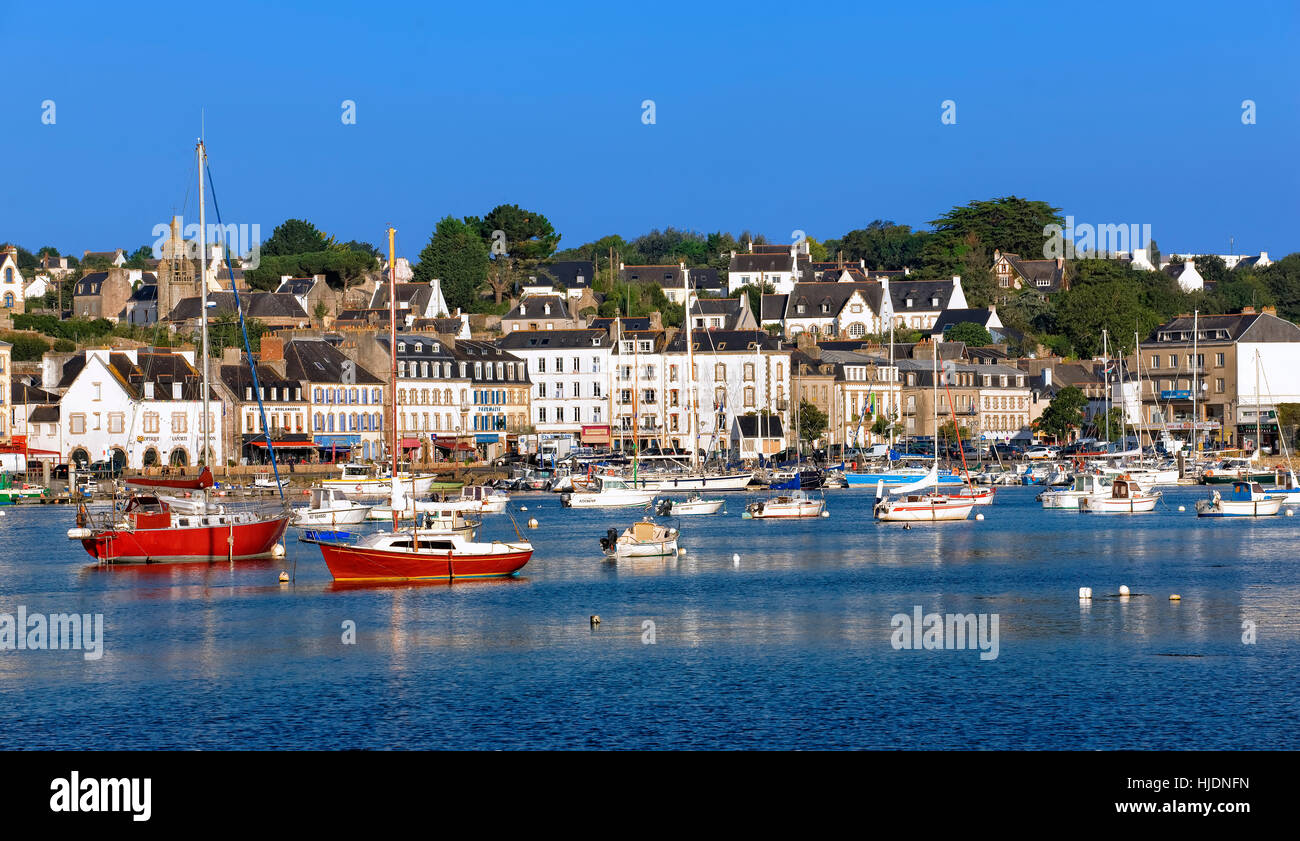 Audierne harbour in Brittany - Stock Image