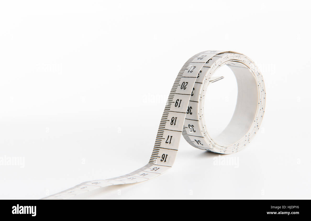 Metre isolated in a white background - Stock Image