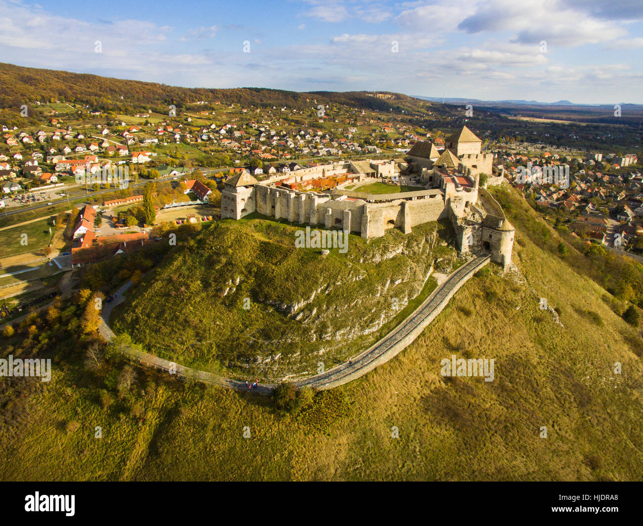 High angle view of Sumeg castle in Hungary Stock Photo