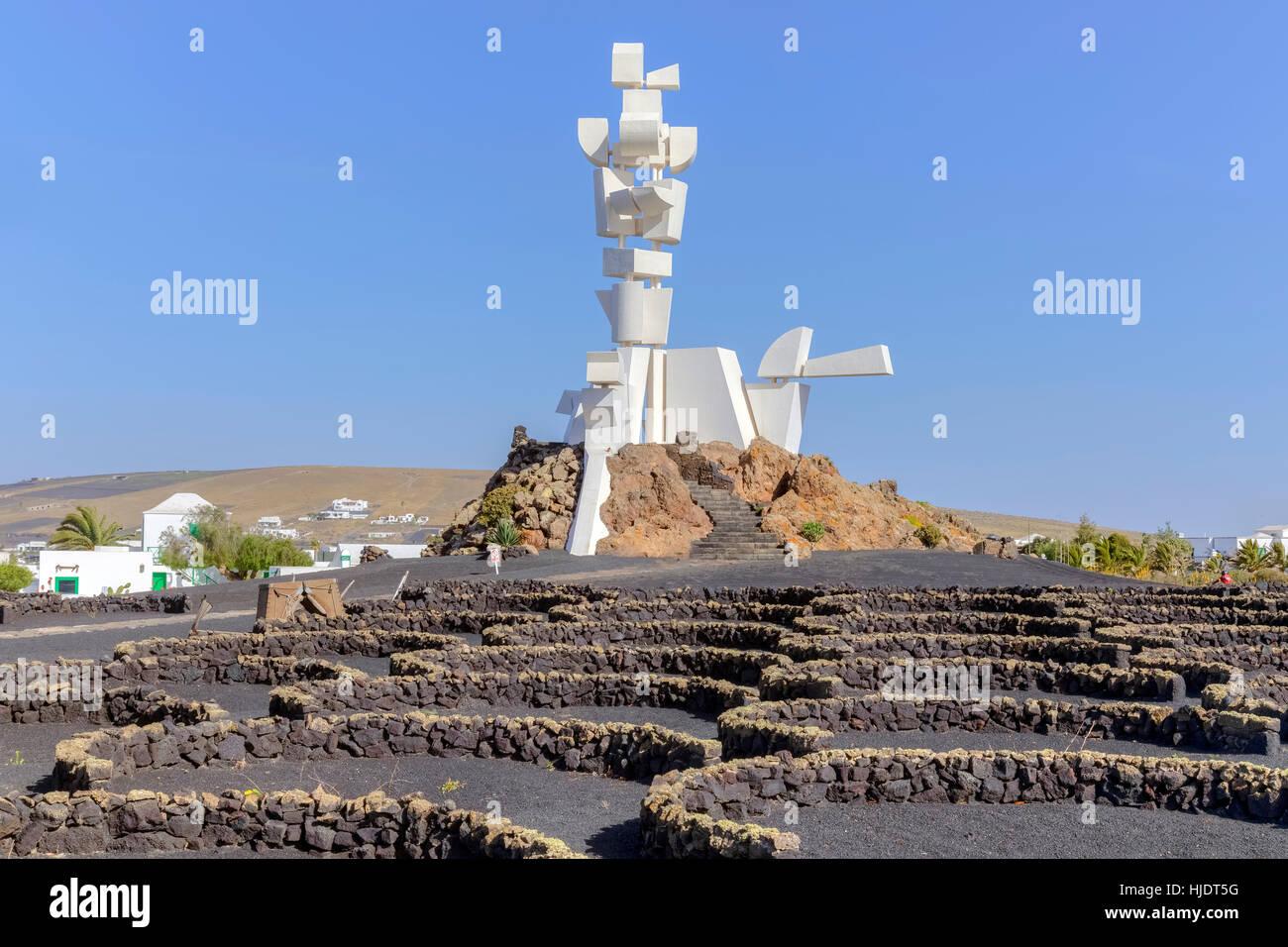 Monumento al Campesino, Tinajo, Lanzarote, Canary Islands, Spain - Stock Image