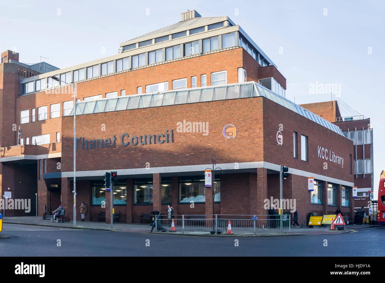 Thanet District Council offices in Cecil Street, Margate. - Stock Image