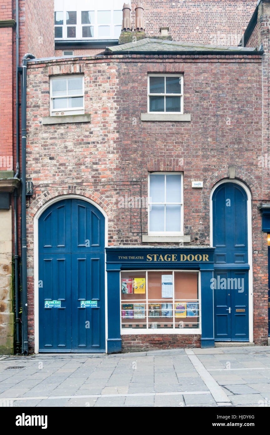 Stage door of the Tyne Theatre Newcastle upon Tyne. Tall doors to allow delivery & Stage Doors Stock Photos \u0026 Stage Doors Stock Images - Alamy