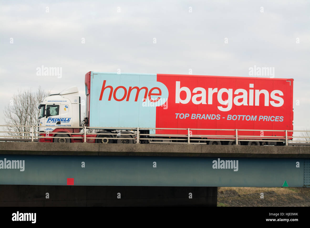 Home Bargains store lorry in Scotland, UK - Stock Image