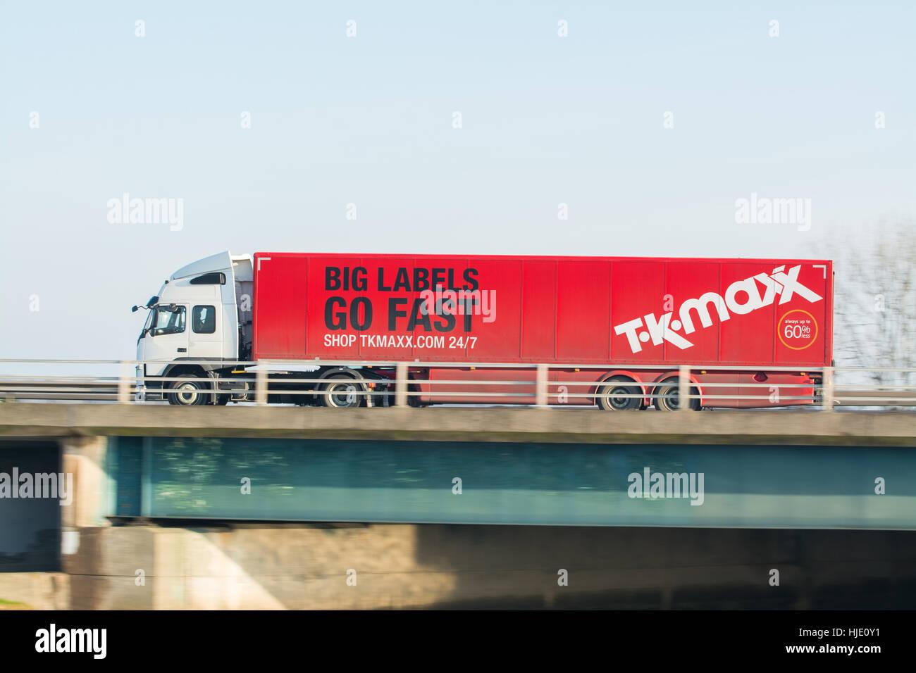 TK Maxx distribution lorry - Scotland, UK - Stock Image