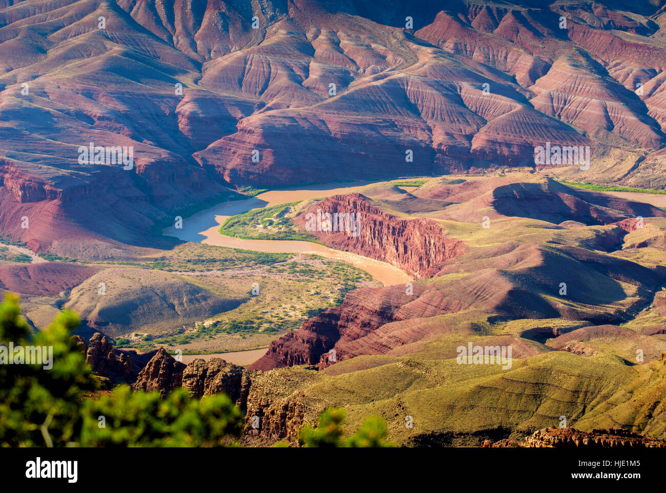 View at sunset from Lipan Point, Grand Canyon National Park, Arizona, USA - Stock Image