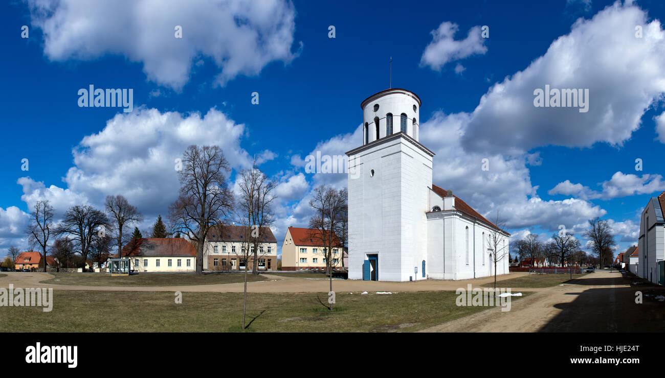 church, brandenburg, community, village, market town, church, brandenburg, Stock Photo