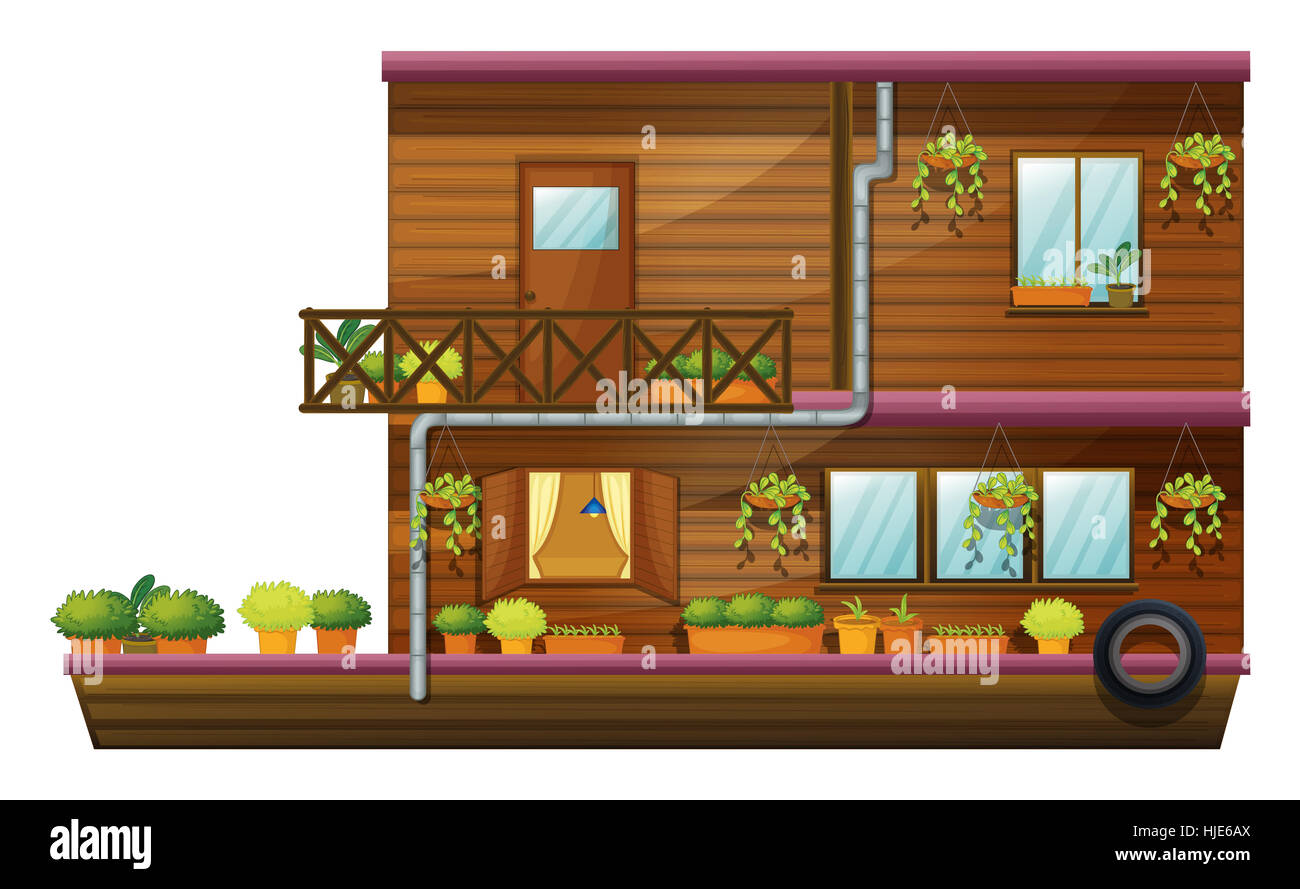 close, house, building, single, isolated, graphic, window, porthole, dormer Stock Photo