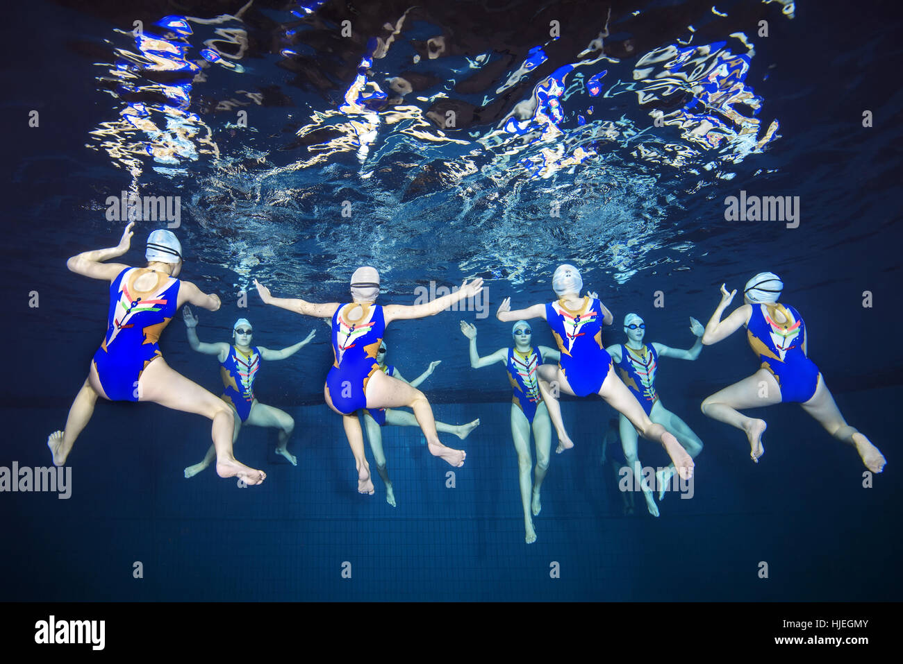 Synchronised Swimming Stock Photos Synchronised Swimming Stock Images Alamy