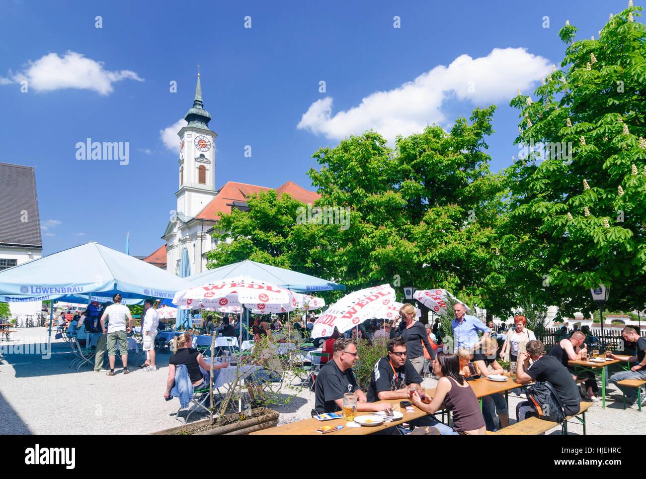 Schäftlarn: Schäftlarn Monastery, Oberbayern, Upper Bavaria, Bayern, Bavaria, Germany - Stock Image