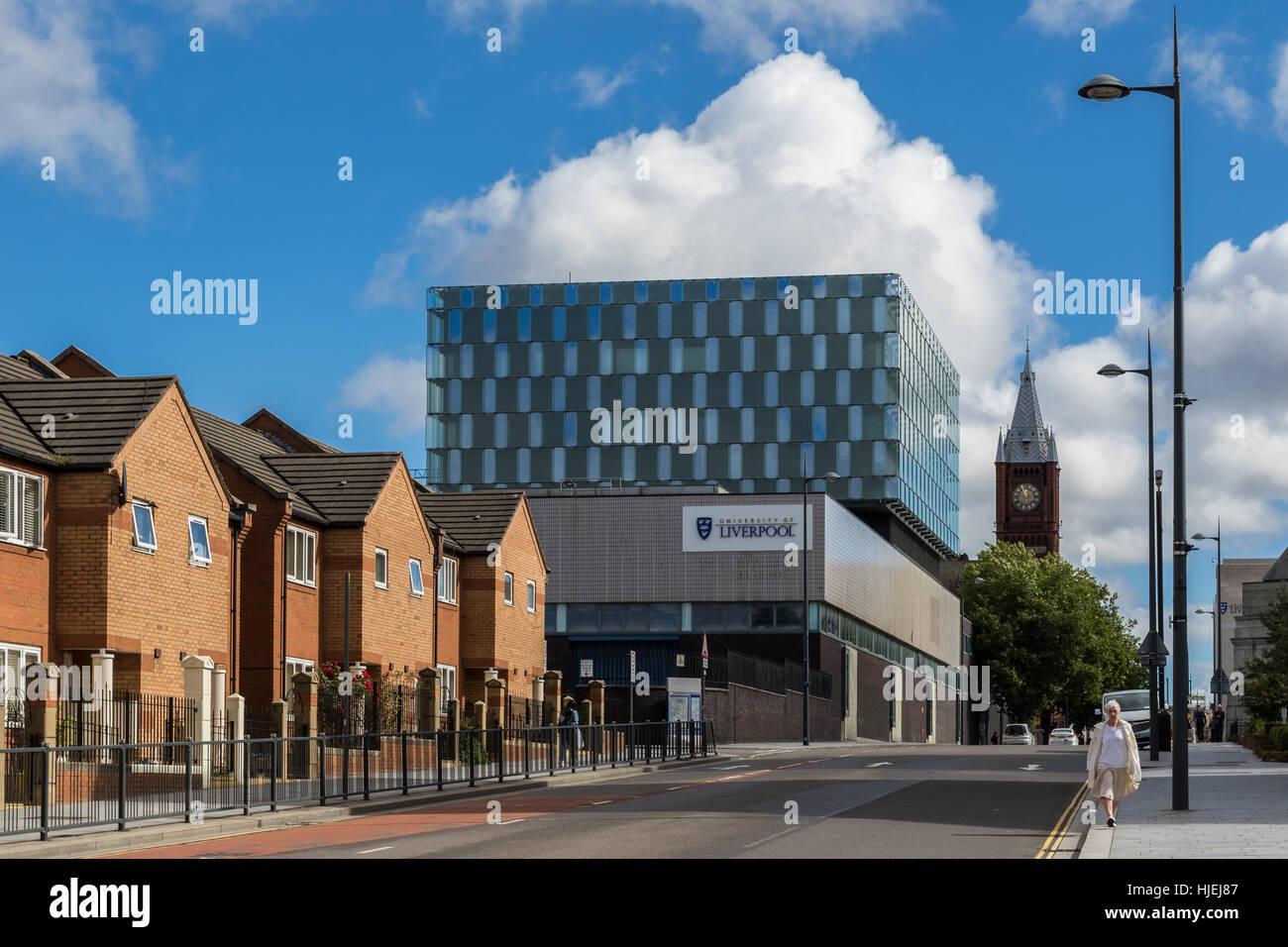 University of Liverpool, Mechanical engineering building - Stock Image