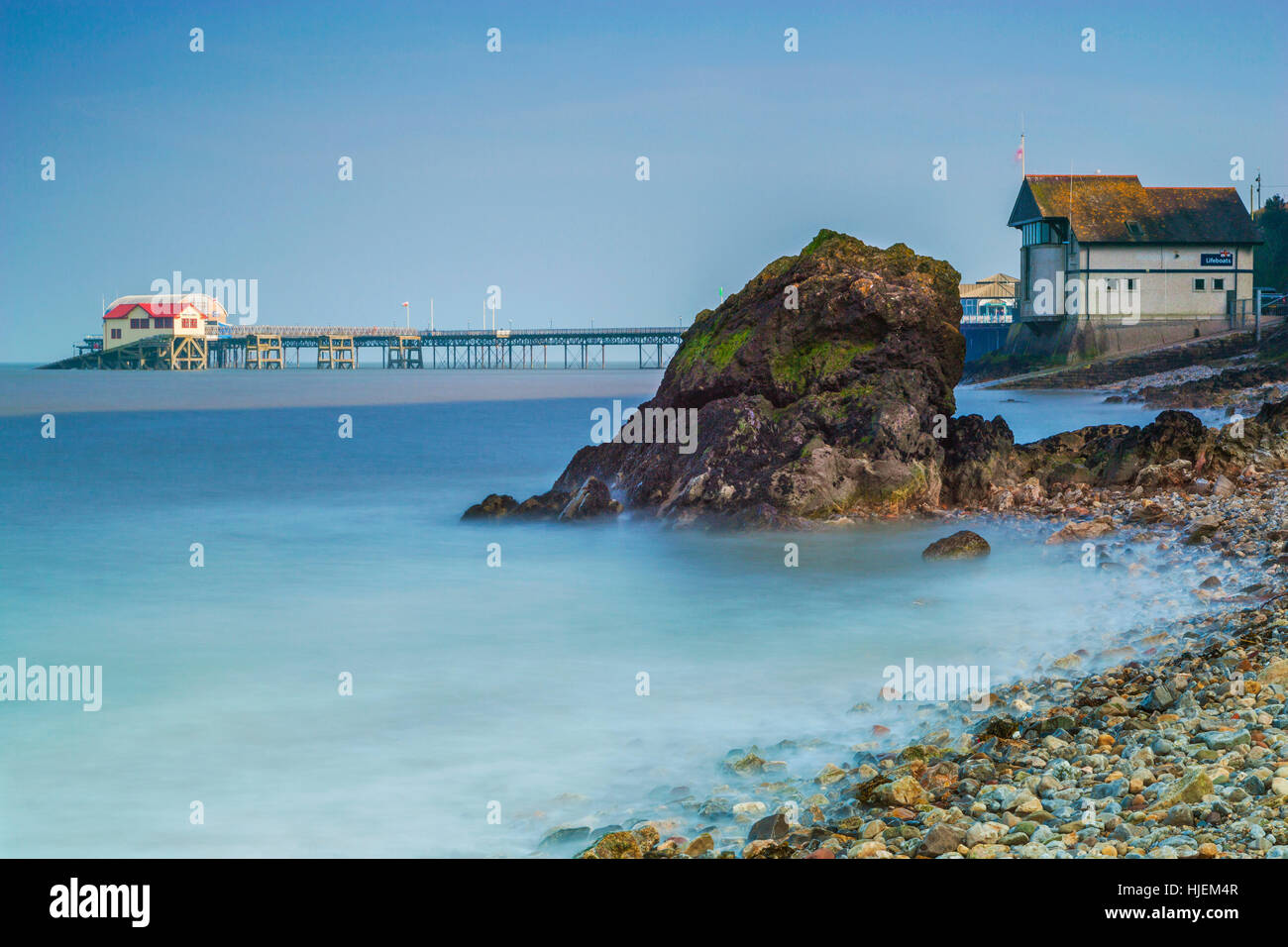 Mumbles Pier, Gower, Swansea - Stock Image