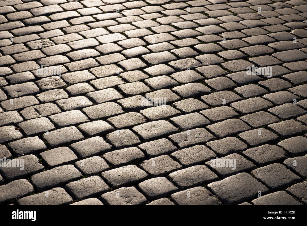 Cobblestone, Nuremberg, Middle Franconia, Franconia, Bavaria, Germany Stock Photo
