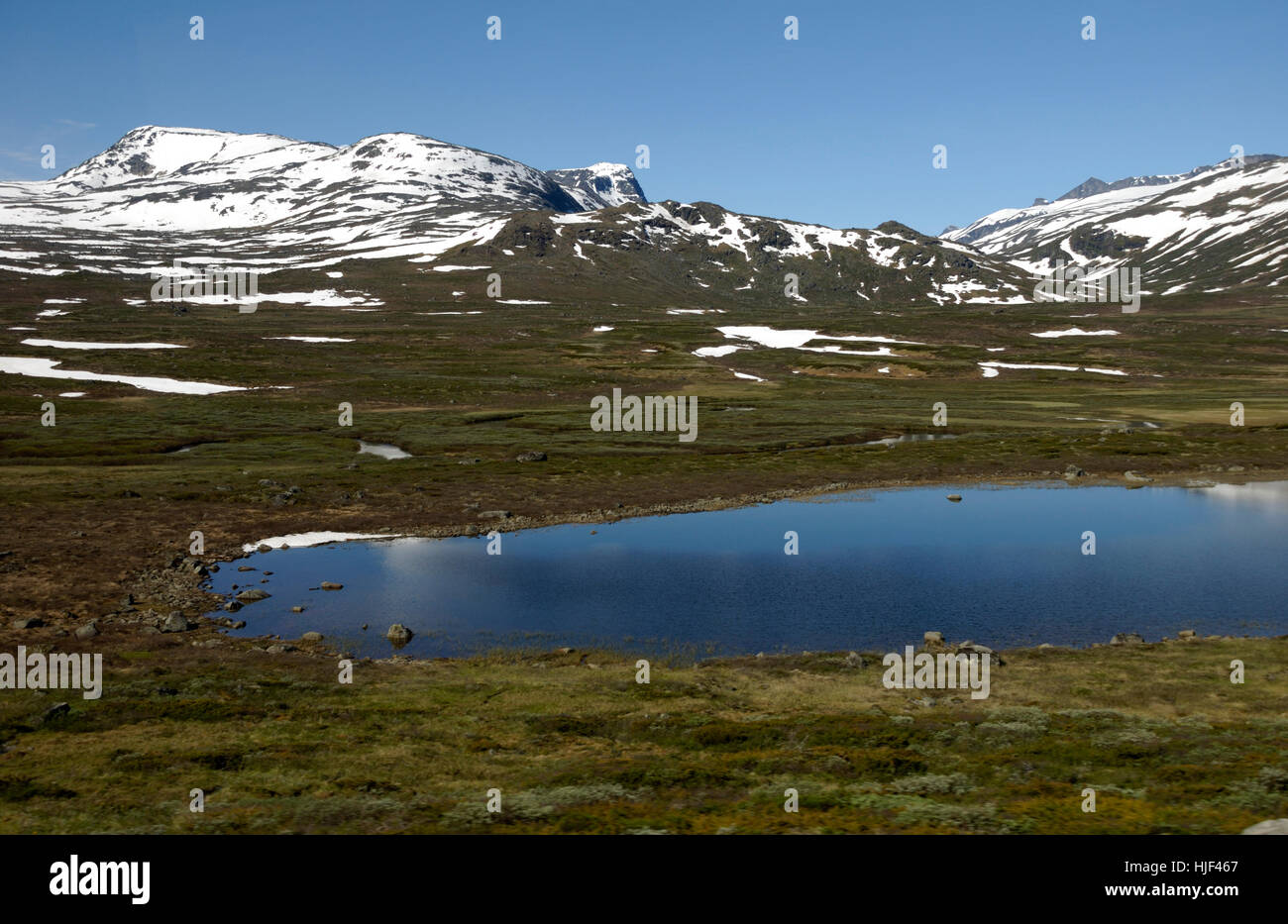 valdresflya in jotunheimen - Stock Image