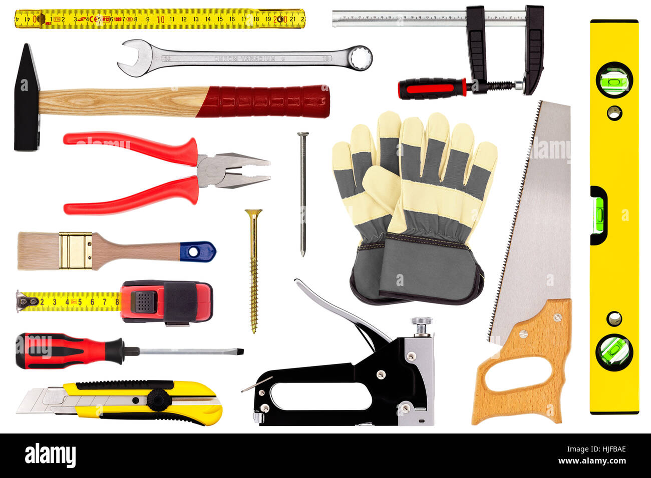 tools isolated on white Stock Photo