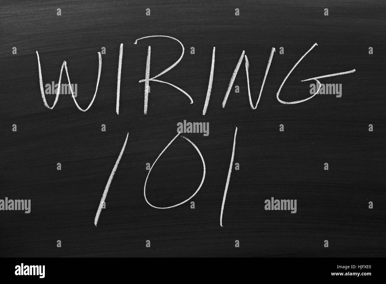 Basic Wiring Stock Photos Images Alamy 101 The Words On A Blackboard In Chalk Image