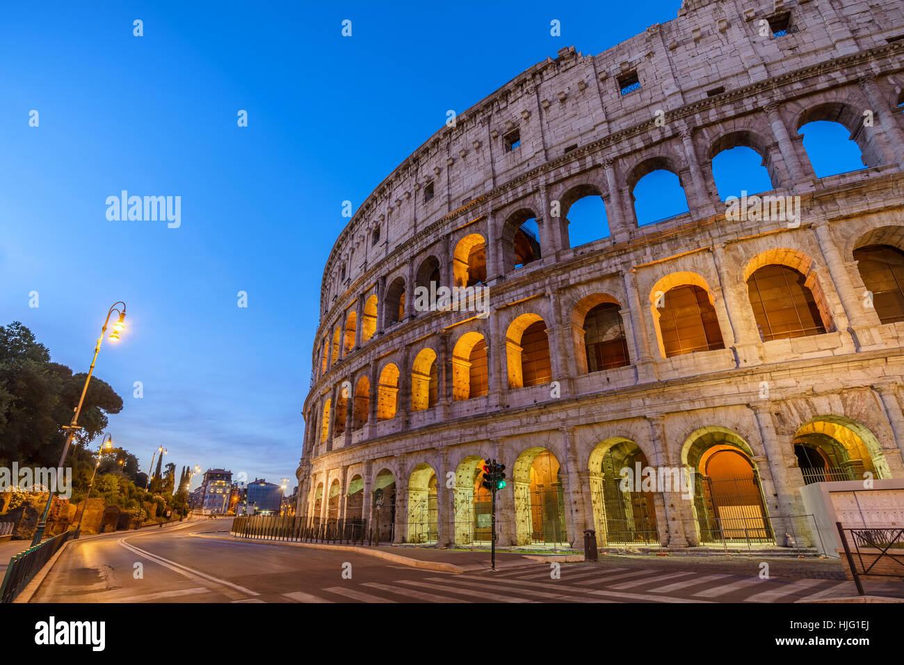 Sunrise at Rome Colosseum (Roma Coliseum), Rome, Italy - Stock Image