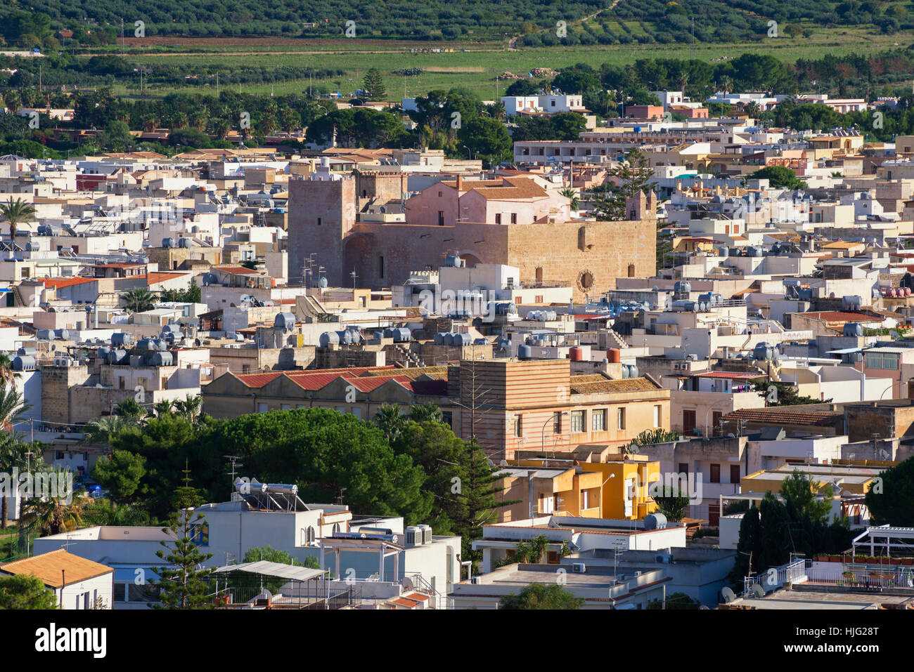 View of San Vito Lo Capo, Sicily, Italy Stock Photo
