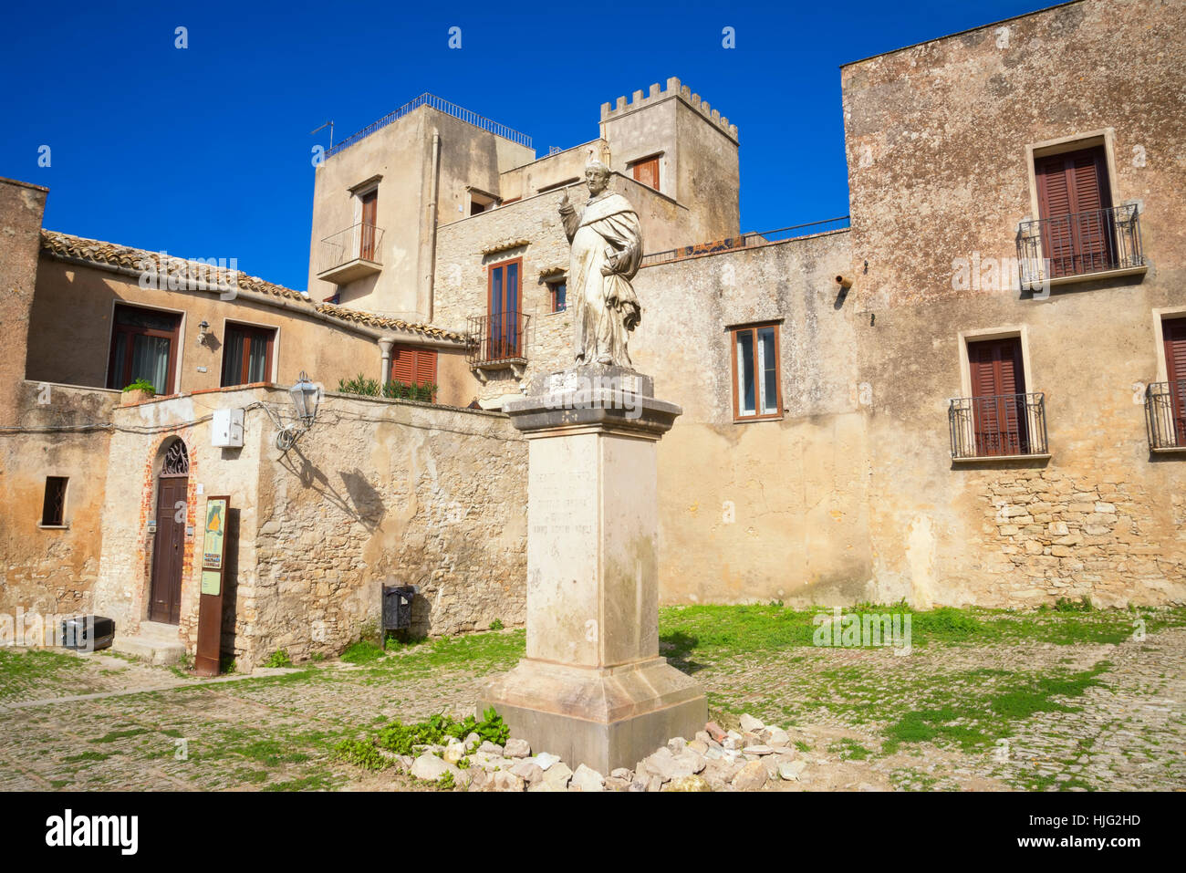 San Giuliano Church,  Erice, Sicily, Italy - Stock Image