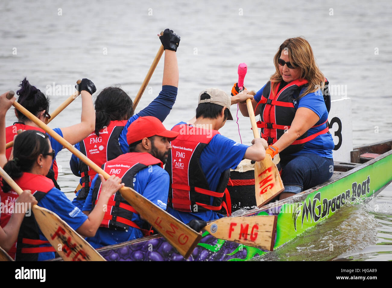 Red river in Winnipeg, MB, Canada - Team building activity