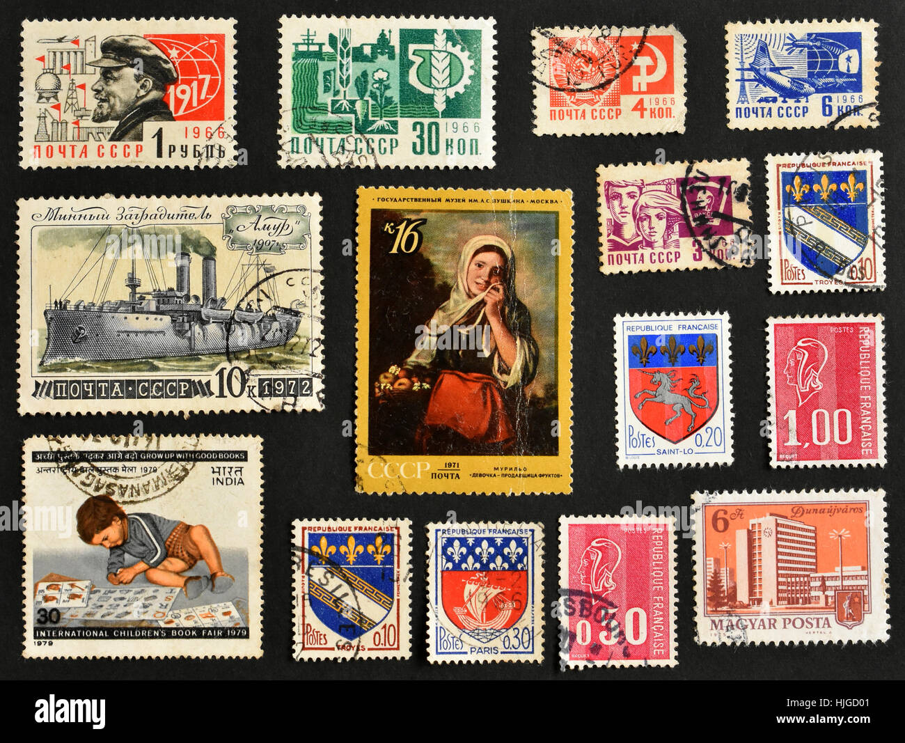 Used stamps of CCCP - Stock Image