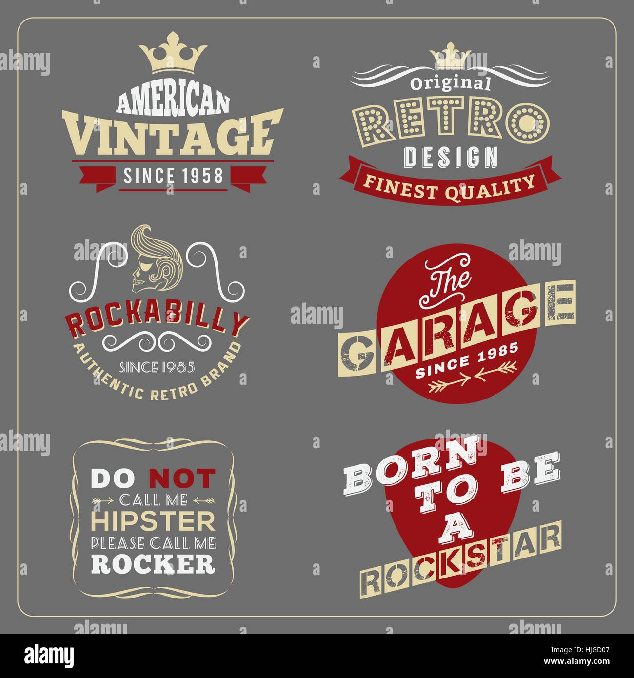 Retro Vintage Badge Design For Poster T Shirt Screen Printing