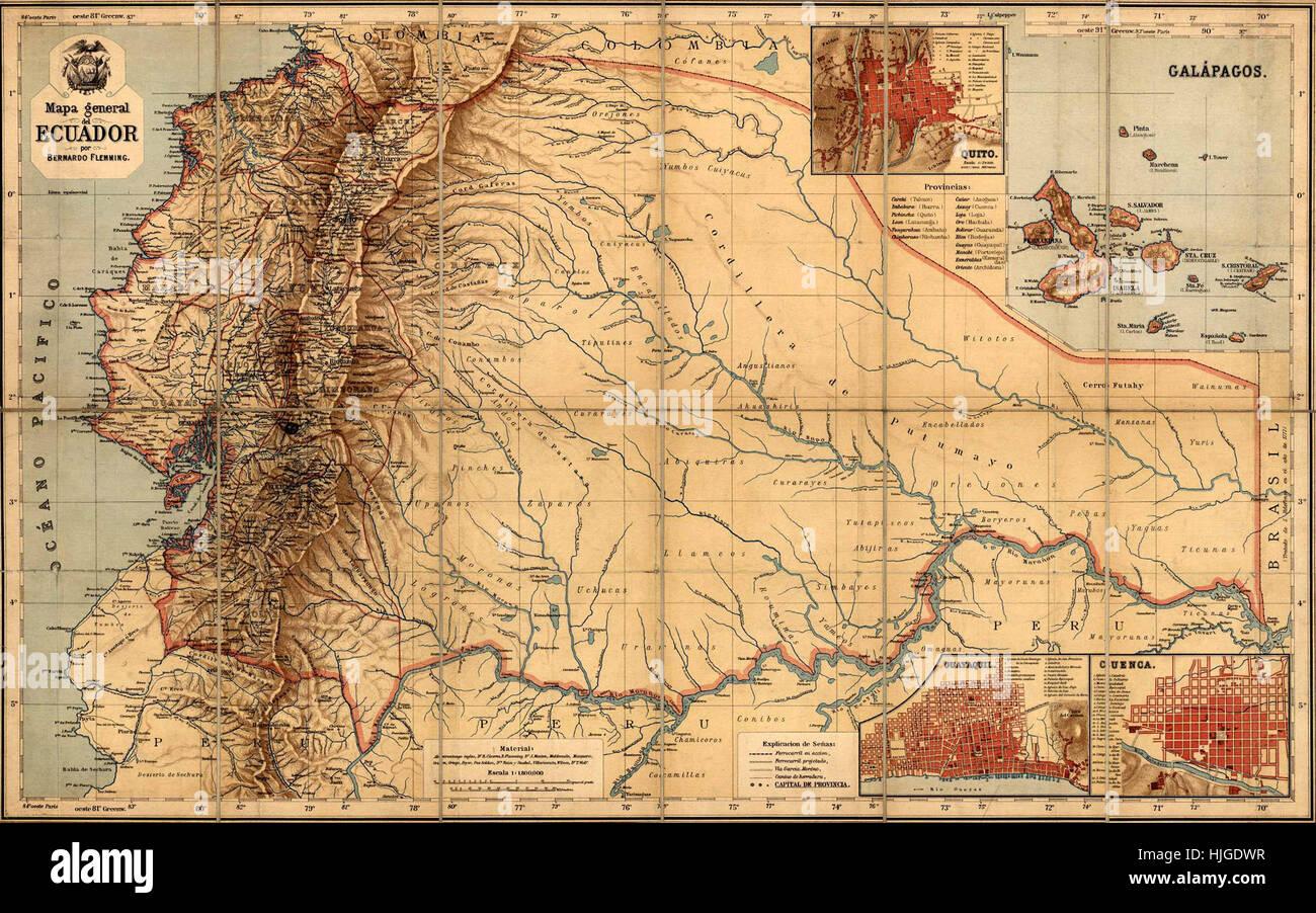 Antique map of ecuador stock photos antique map of ecuador stock map of ecuador 1894 stock image gumiabroncs Choice Image