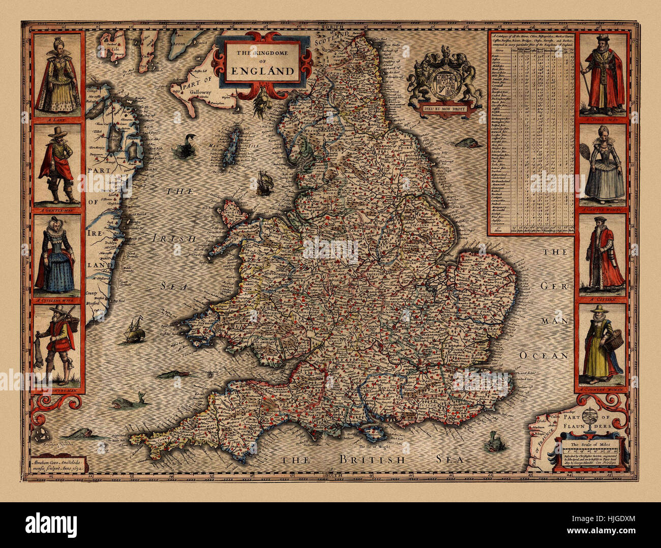 Map Of England 1630