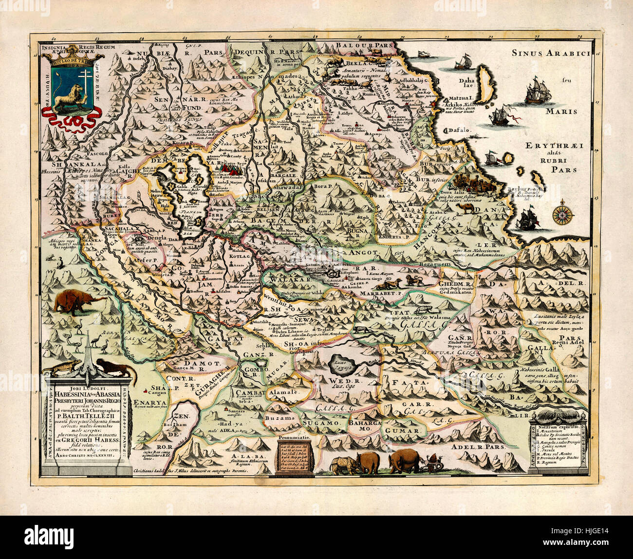 Old Map Of Ethiopia Stock Photos & Old Map Of Ethiopia Stock Images ...