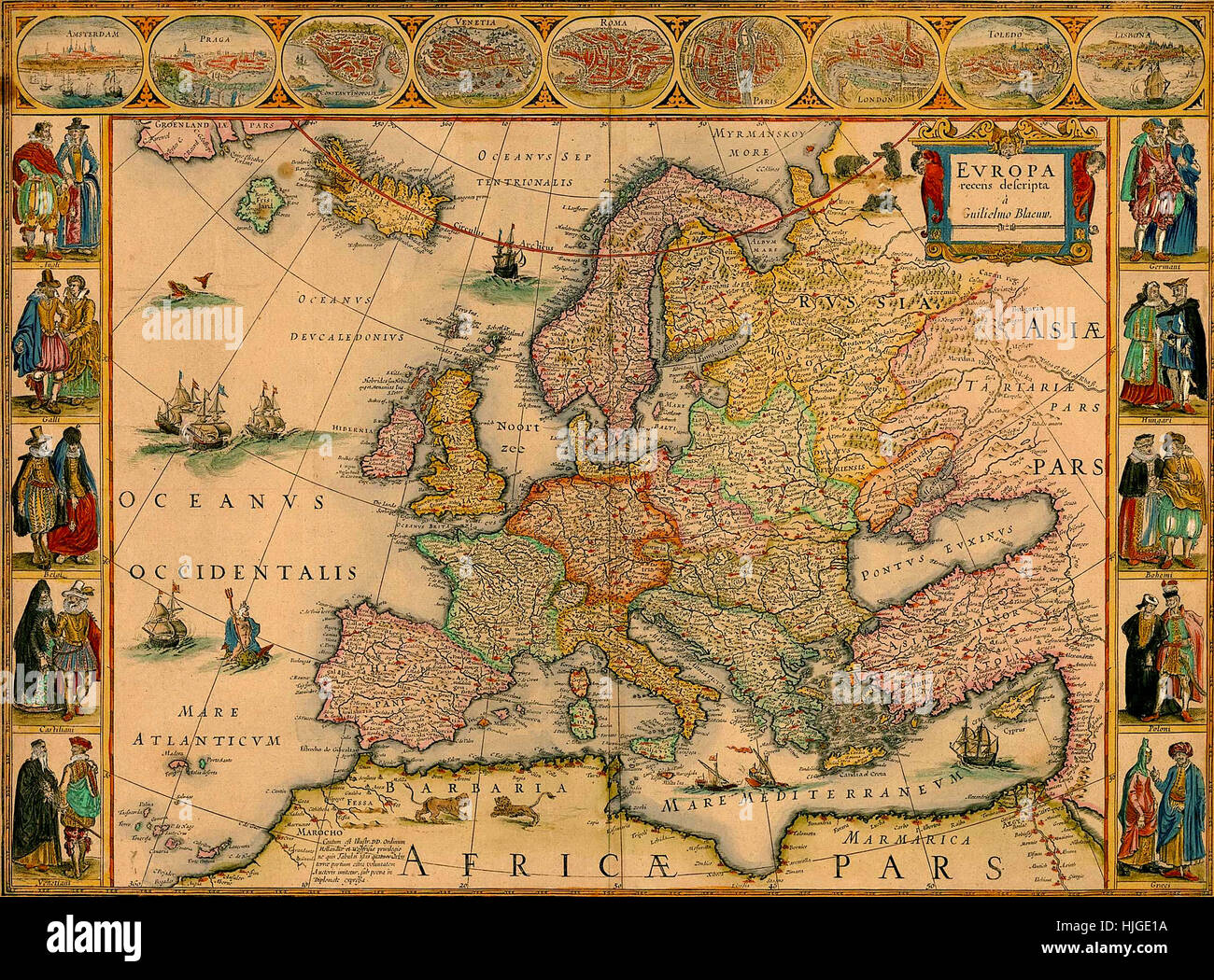 Map Of Europe 1670