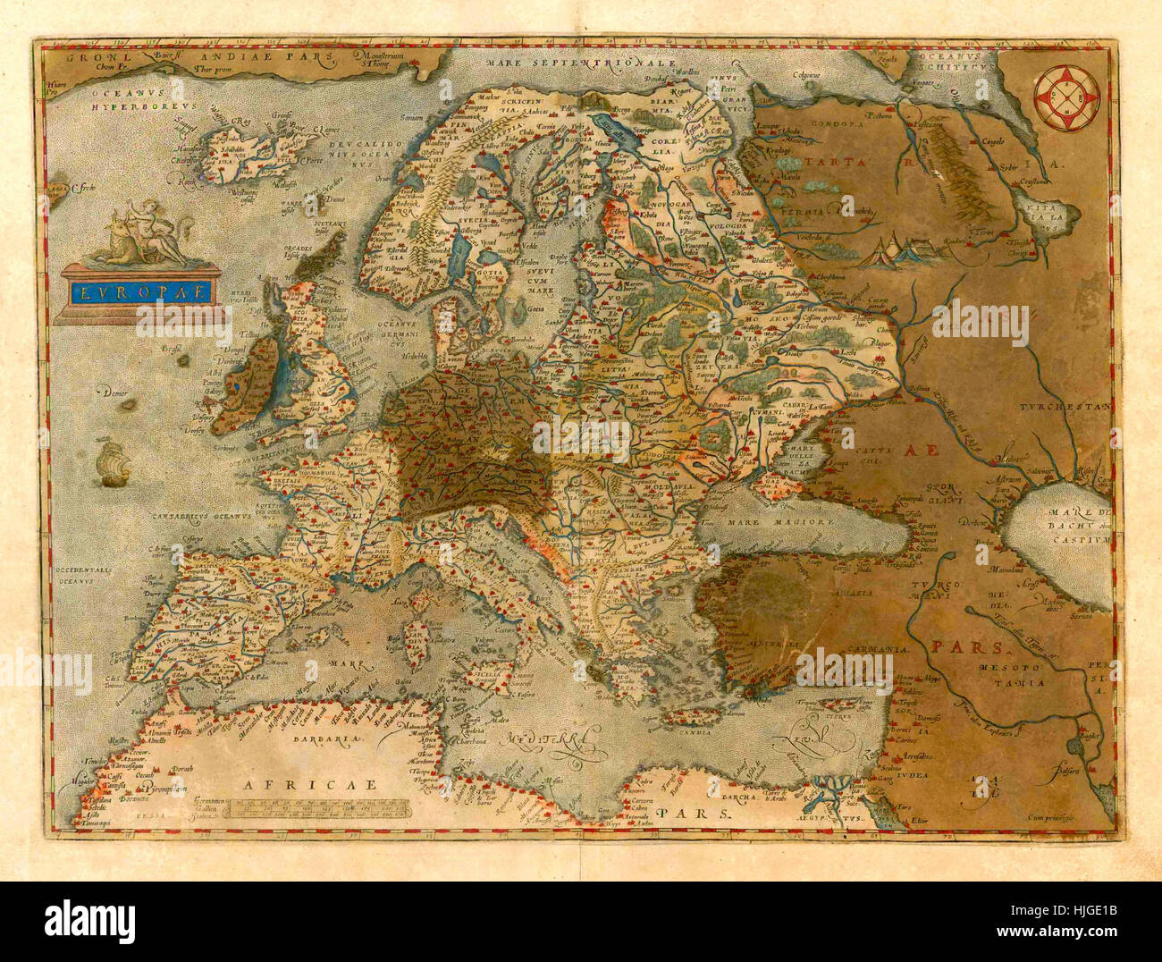 Map Of Europe 1579