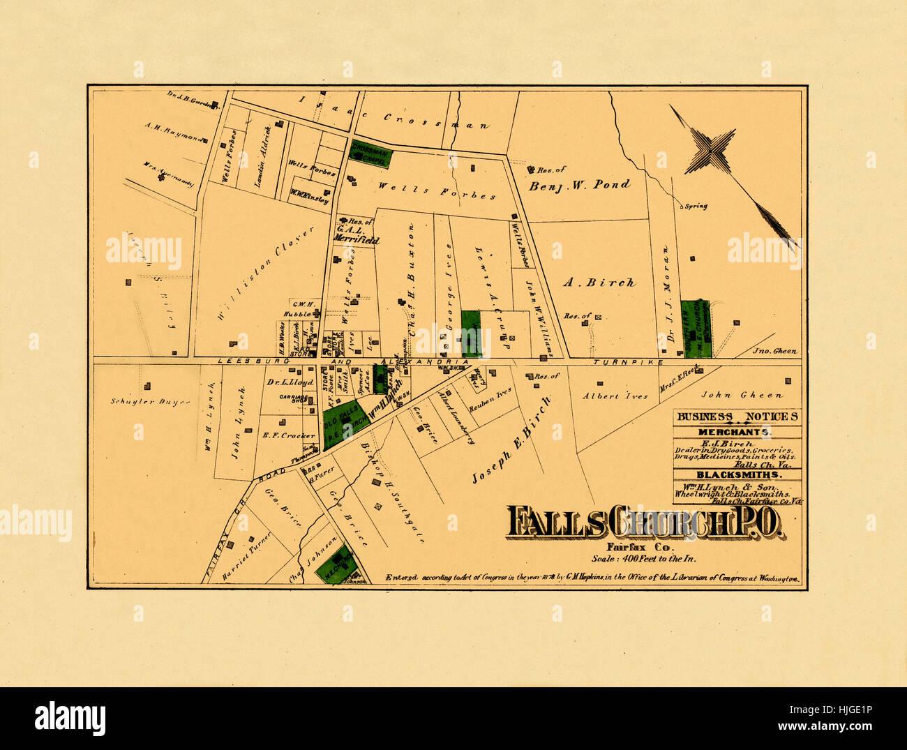 Falls Church Virginia Map.Map Of Falls Church Virginia Stock Photos Map Of Falls Church