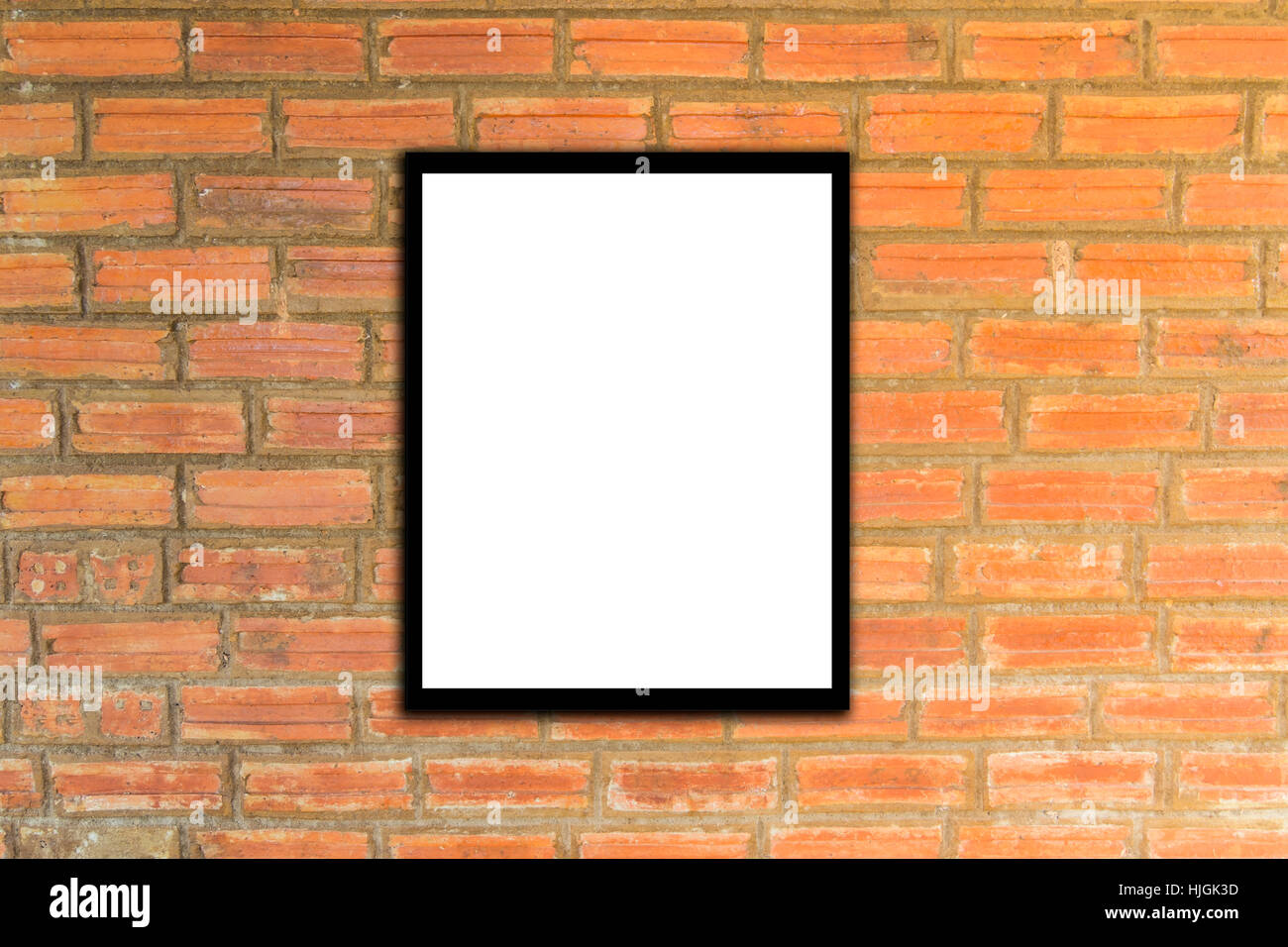 Mock Up Poster Frame And Brick Wall Hipster Or Vintage