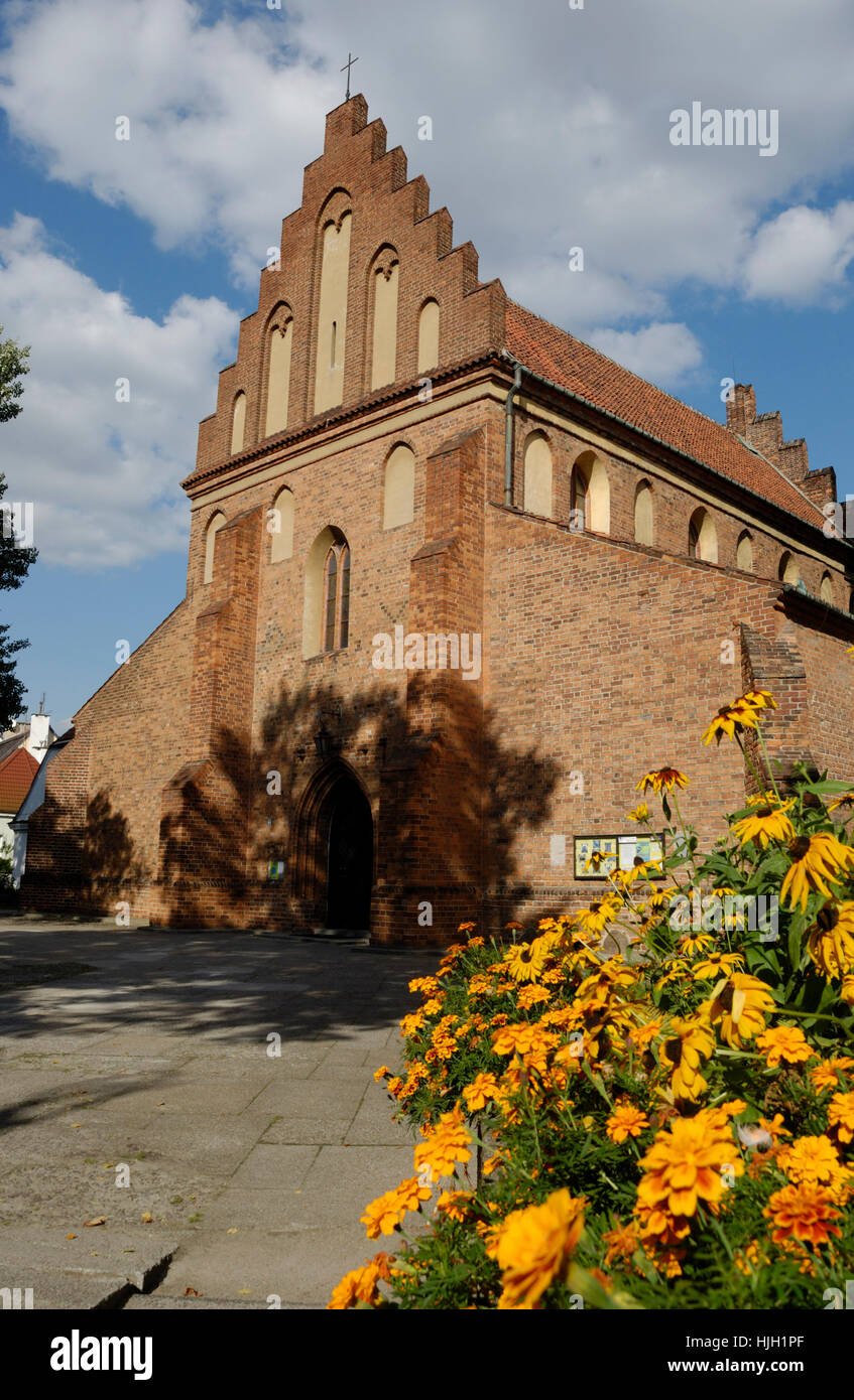 mary's church in warsaw - Stock Image