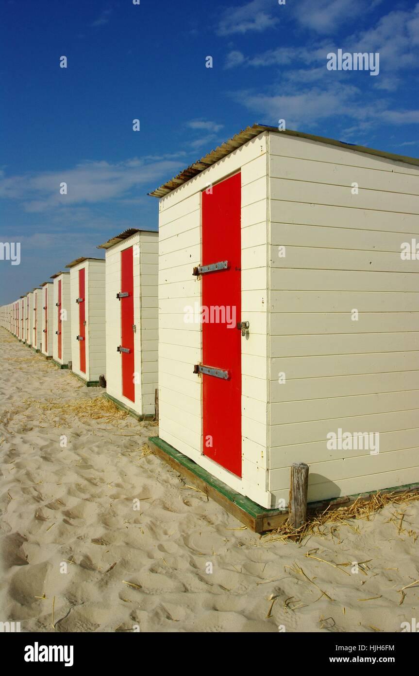 water, north sea, salt water, sea, ocean, holland, netherlands, bathhouse, Stock Photo