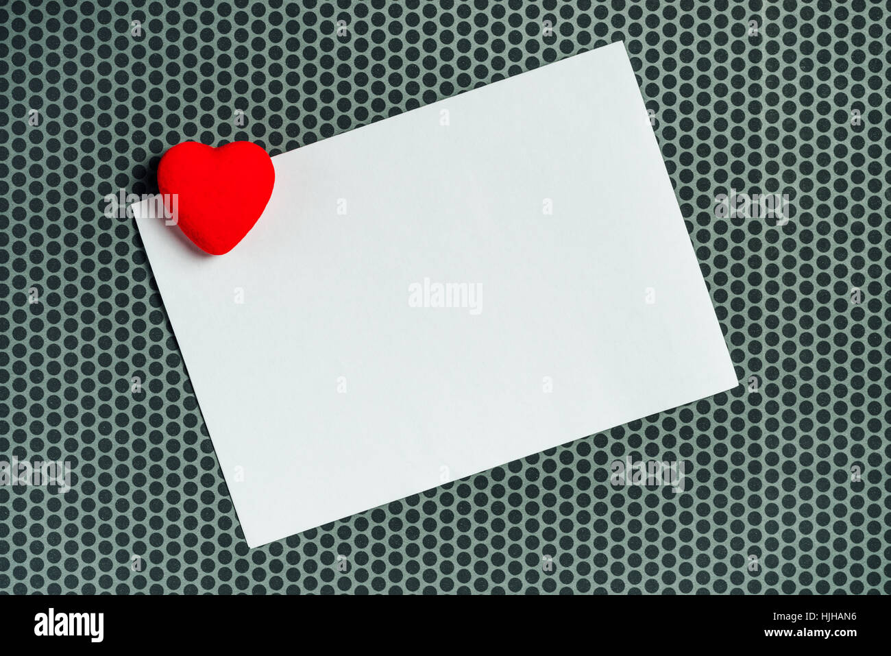 Valentine's day love letter copy space, top view - Stock Image