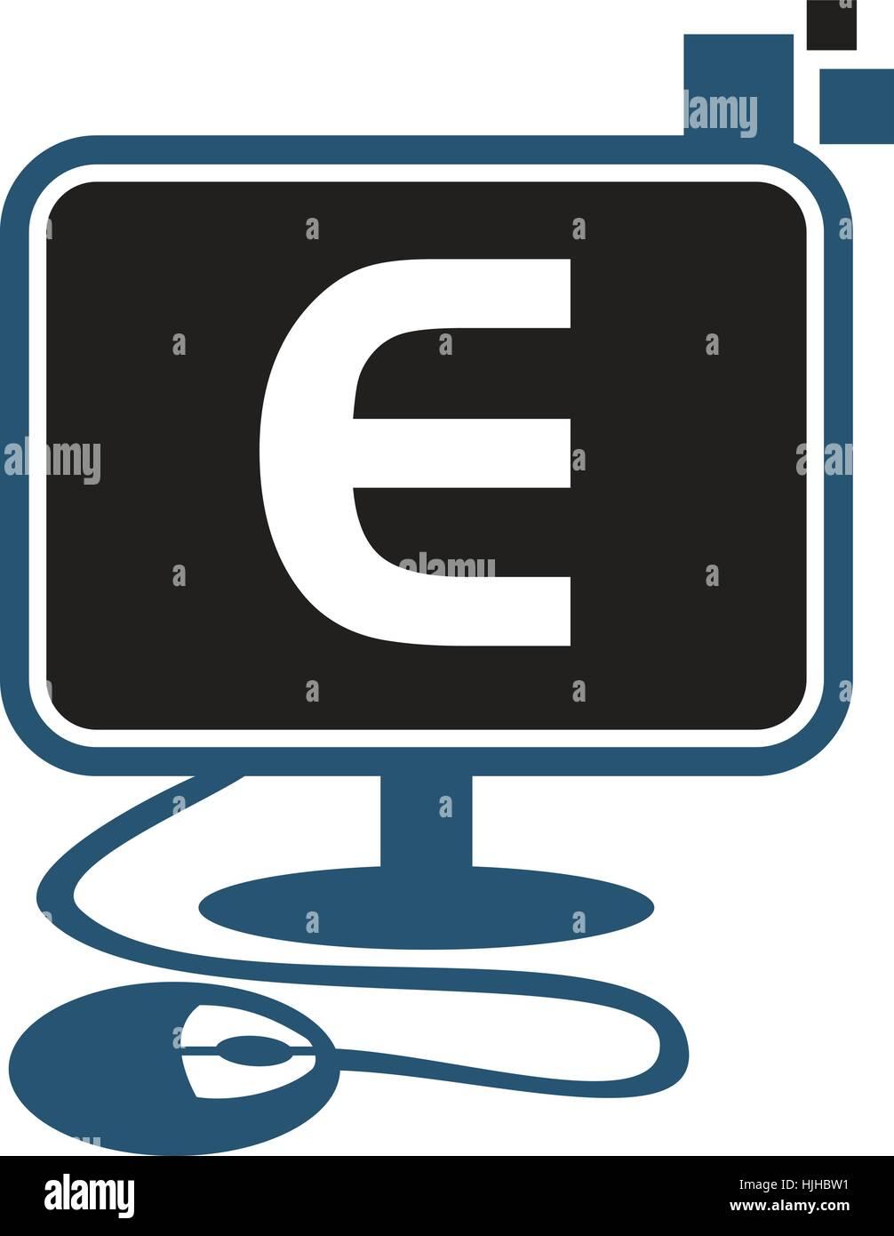 Digital Technology Initial E - Stock Image