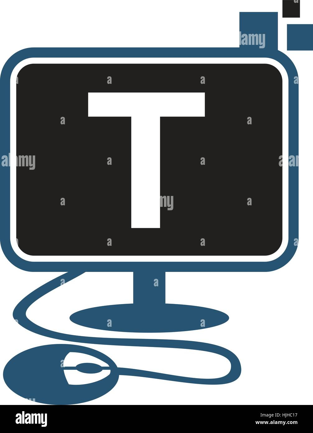 Digital Technology Initial T - Stock Image