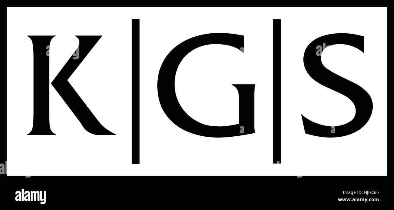Modern Logo Solution Letter KGS