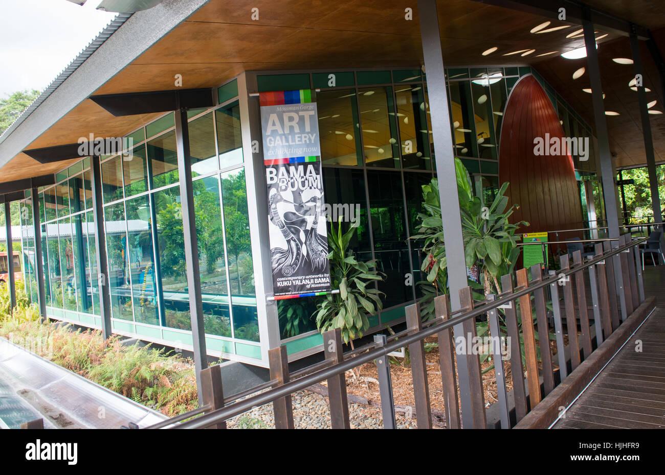 Visitor Centre at Mossman Gorge, Queensland Australia - Stock Image