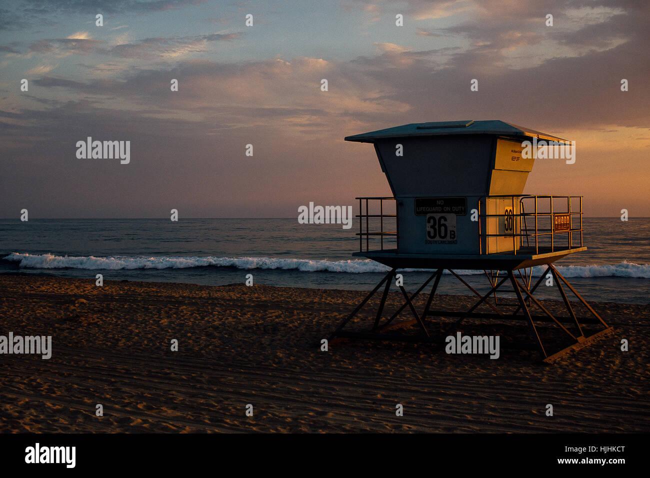 sunset Oceanside - Stock Image