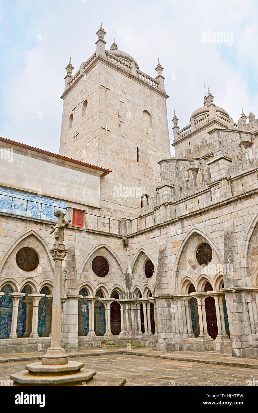 PORTO, PORTUGAL - APRIL 30, 2012: Se Cathedral with its medieval cloister is the fine example of the Gothic Style, Stock Photo