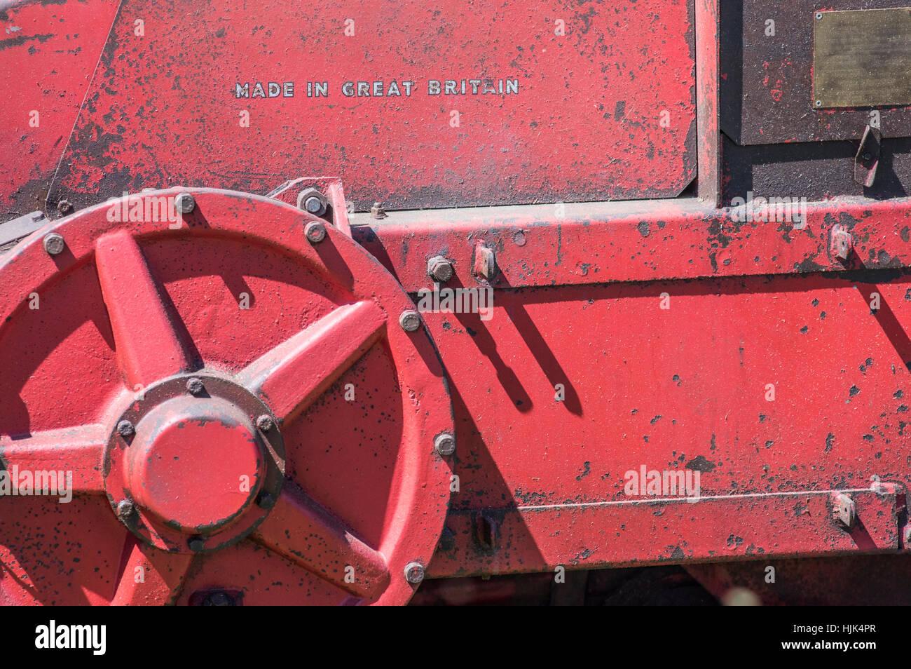 Detail from Massey Ferguson baler model 703 - Stock Image