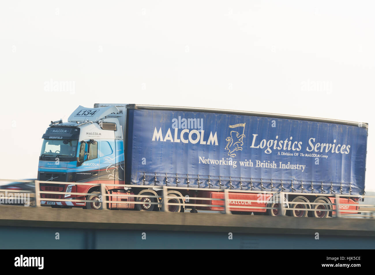 Malcolm Logistics Services lorry - Scotland, UK - Stock Image