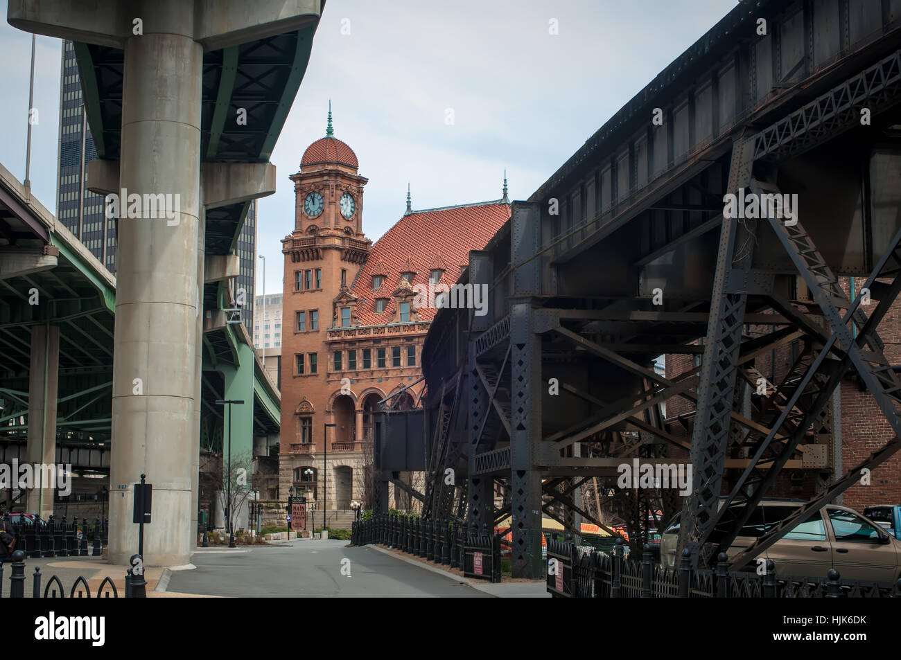 station, railway, locomotive, train, engine, rolling stock, vehicle, means of - Stock Image
