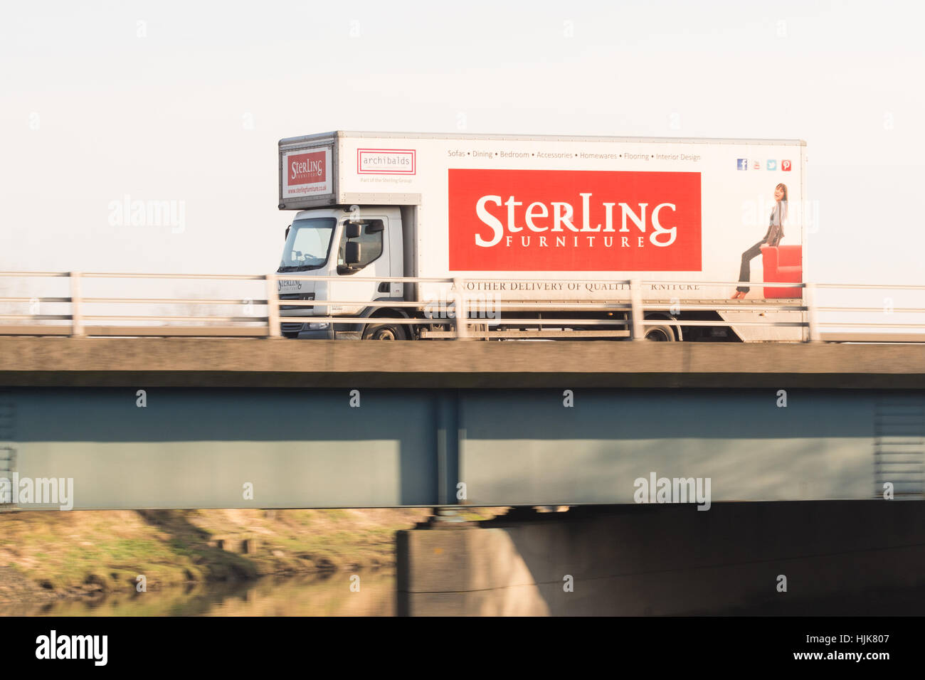 Sterling furniture delivery van scotland uk stock image