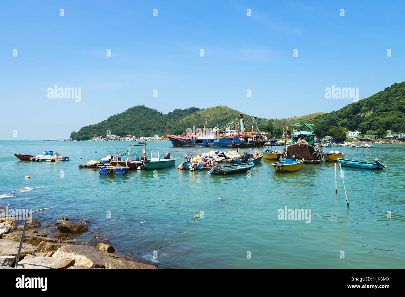 Tai O Fishing Village of Lantau Island in Hong Kong, China. - Stock Image