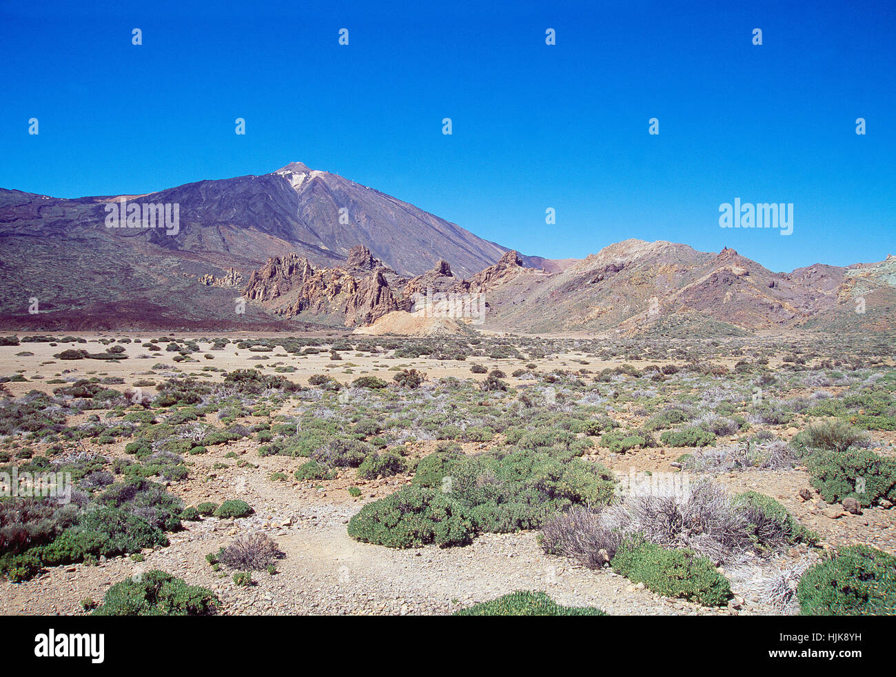 Teide peak. Teide National Park, Tenerife island, Canary Islands, Spain. Stock Photo